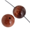 Goldstone 10mm Round 17pcs Approx